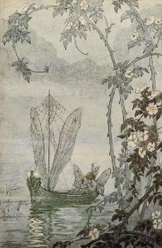 Hilda Hechle 'Fairy Boat with Gossimer sails  silken ropes a Magical Moment