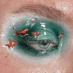 Makeup Drawing, Eye Makeup Art, Blue Eye Makeup, Cute Makeup, Pretty Makeup, Makeup Inspo, Eyeshadow Makeup, Makeup Inspiration, Beauty Makeup