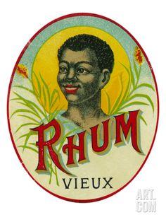 Rhum Vieux Rum Label Art Print at Art.com