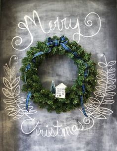 A Simple Evergreen Christmas Wreath that you can make in less than 15 minutes with simple materials you might already have at home! Blue Christmas, All Things Christmas, Winter Christmas, Vintage Christmas, Christmas Wreaths, Christmas Crafts, Merry Christmas, Christmas Ideas, Christmas Greenery