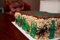 Rice Krispie Treat Bug Birthday Cake
