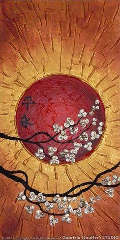 Resumen pintura pintura del árbol paisaje Asia por GabrielaStauffer