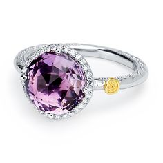 """*First Look* from our new """"Lilac Blossoms"""" collection! ♥ We just love this 3.35ct Amethyst ring, set within sterling silver, and bloomed w/spotlight diamonds! msrp: $730 Coming this Summer...!"""