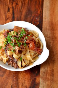 Braised Lamb Neck Ragu Recipe - a simple Italian ragu with the cheapest cut of lamb. Lamb neck is a beautiful meat that shouldn& be overlooked. Lamb Neck Recipes, Goat Recipes, Greek Recipes, Wine Recipes, Italian Recipes, Italian Foods, Albanian Recipes, Albanian Food, Slow Cooker Recipes
