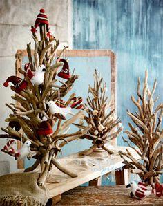 Seaside Inspired - Beach Decor: Driftwood Christmas Tree | Beach Christmas Style