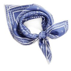 Women's Rebecca Minkoff Silk Bandana (£29) ❤ liked on Polyvore featuring accessories, scarves, indigo, silk bandana, square scarves, silk scarves, paisley shawl and paisley bandana