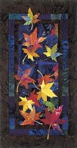 """Drifters"" autumn leaves art quilt 27 x quilt pattern by Bee Creative Studio Quilting Projects, Quilting Designs, Skinny Quilts, Bee Creative, Creative Studio, Zeina, Quilt Modernen, Fall Quilts, Tree Quilt"