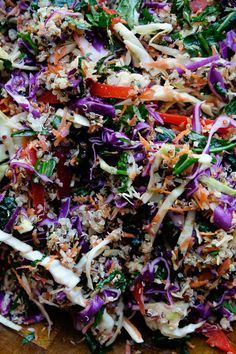 Coconut Quinoa Coleslaw Coconut Quinoa Salad, Toasted Coconut, Vegetable Bowl, Veggie Dishes, Healthy Salad Recipes, Diet Recipes, Vegan Vegetarian, Vegetarian Recipes, Quinoa Grain