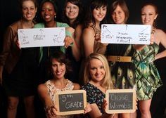 How each bridesmaid met the bride, use all chalk boards