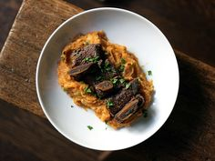 Barolo-braised Short Ribs on Mashed Sweet Potatoes ~ The Delicious Life