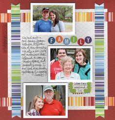 scrapbooking layouts | Kids Scrapbook Project Ideas: Labor Day Cheerful Scrapbooking Layout