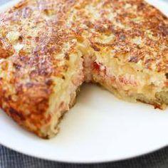 Foto da receita: Batata rosti com tomate e requeijão