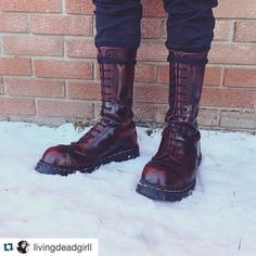 Gripfast boots and shoes are hand made in Northamptonshire, UK. Mens Tall Boots, Me Too Shoes, Men's Shoes, Skinhead Boots, Fashion Boots, Mens Fashion, Goth Boots, Dr Martens Boots, Punk