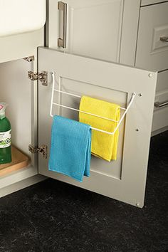 Sink Dish Towel Door Rack - - cabinet and drawer organizers - minneapolis - by Mid Continent Cabinetry
