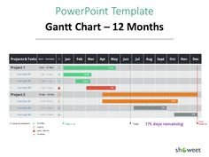 Free Gantt Chart Template For Powerpoint  Charts  Diagrams For