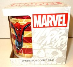 Marvel Spiderman Comics Avengers Coffee Mug Cup Red Collector 15 oz Gift NEW #Marvel