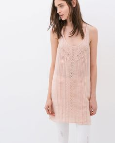 Image 2 of SLEEVELESS EMBROIDERED TUNIC from Zara