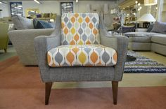 Living : LISBON Accent Armchair in Grey