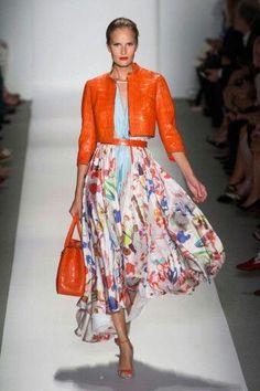 Orange Florals, Catwalk, Fashion, Van Arendonk, Blog,