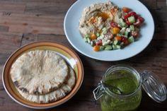 Hummus for dinner - gotta make the green sauce (shkug??).
