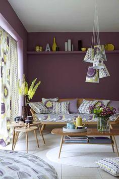 6 ideias originais para decorar com púrpura