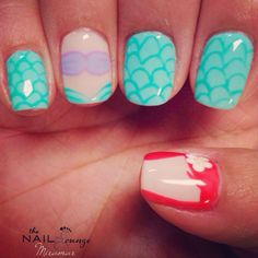 Disney The Little Mermaid Ariel nail art design
