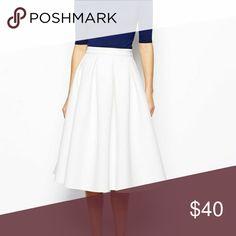 White Midi Skirt Gorgeous elegant white midi skirt, perfect for summer! Bought from a boutique, great quality. Skirts Midi