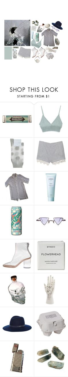 """""""sw 7663 monorail silver"""" by flapper-shoes ❤ liked on Polyvore featuring Miss Bibi, Hansel from Basel, rag & bone, Les Petites..., Lirikos, Arizona, Maison Margiela and Byredo"""