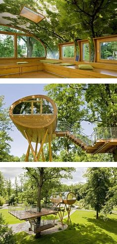 That& one heck of a tree house. Thats one heck of a tree house. Cool Tree Houses, Unique House Design, In The Tree, Little Houses, Amazing Architecture, Play Houses, My Dream Home, Cabana, Land Scape