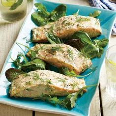 Roasted Salmon with Dijon-Dill Sauce | CookingLight.com #myplate #protein #veggies #fruit #dairy