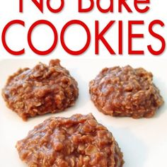 The BEST No Bake Cookies! So good, I have always thought these were a combination of cookie and fudge - yum! Best No Bake Cookies, Yummy Cookies, Baking Cookies, Brownie Cookies, Cookie Recipes, Dessert Recipes, Fudge Recipes, Pudding Recipes, Delicious Desserts
