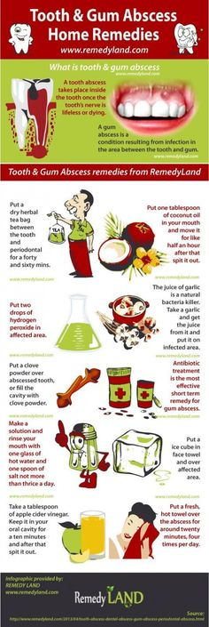 Tooth & Gum Dental Abscess Home Remedies #health #infographic