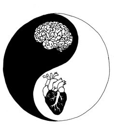 Yin Yang/Heart and Mind by Brynnen-SmilesYou can find Yin yang and more on our website.Yin Yang/Heart and Mind by Brynnen-Smiles Arte Yin Yang, Yin Yang Art, Yin And Yang, Yin Yang Tattoos, Art Drawings Sketches, Tattoo Drawings, Tattoo Art, Mandala Tattoo, Tattoo Sketches