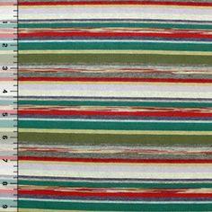 Heidi Stripe Cotton Jersey Blend Knit Fabric