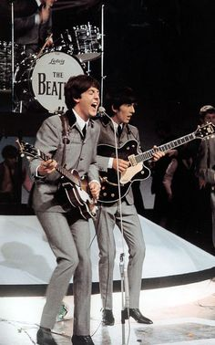 George and Paul...I always loved how they both would share the same microphone... {GM}
