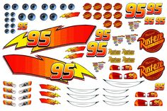 Decorated Your Home Interior With Decals For Walls Design Ideas: Lightning McQueen Body / Decals