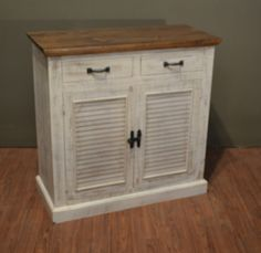 Bayshore Collection: Expertly finished high end reclaimed wood furniture. Muted painted wood and high style pieces for the home. - Distressed White Paint - Solid Pine Wood - Mortise and Tenon construc