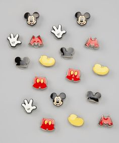 Take a look at this Mickey Mouse Shoe Tag Set by DAWGS on today! Book Crafts, Felt Crafts, Mickey Mouse Shoes, Disney Buttons, Pony Bead Crafts, Japanese Books, Patterned Sheets, All Kids, Pony Beads