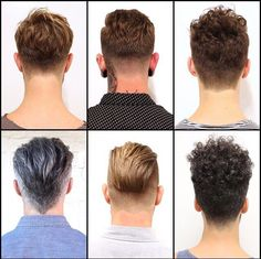 Nuques garçon. Mens Hair, Various Tapering Styles.