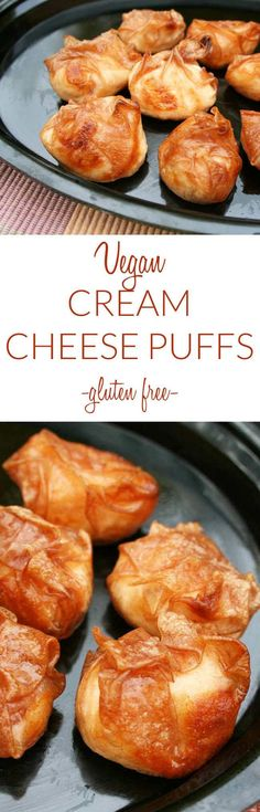 Vegan Cream Cheese Puffs (vegan, gluten free) - These rich crispy and creamy appetizers are really additive! They are quick and easy to make - perfect for weeknights!