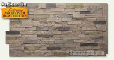 Wellington Dry Stack Faux Panels   Cost-Effective Remodeling  for our castle wall interior
