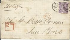 GB 1871 6d Plate 9 On Cover with Late Fee Mark to San Remo Italy | eBay