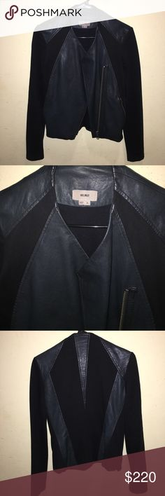 Helmut Lang Leather Jacket Helmut Lang Lambskin Leather Jacket. Size Small but can also fit a size XS. This is washed Leather! Washed leather is meant to look a bit worn for an edgy look! Asymmetric zipper front style. Beautiful back leather details. Two working zipper pockets. Great condition! I love this jacket but recently purchased a new one that fits my frame better. Helmut Lang Jackets & Coats