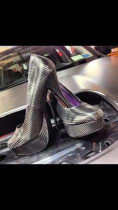 Carbon fiber heels. So sick
