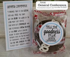"""Free cupcake tag and quote-- """"find the goodness inside General Conference"""" from buildingourhive.b..."""