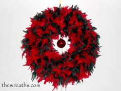 Red and Green Christmas Wreath by thewreaths