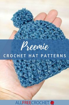 These free crochet preemie hat patterns offer a wide variety of designs to make. Browse preemie hats for beginners up through advanced stitches! 64 Preemie Crochet Hat Patterns Debi Greene debgreeneaz Patterns These free crochet preemie hat pattern Crochet Preemie Hats, Crochet Baby Hat Patterns, Crochet Beanie Pattern, Newborn Crochet, Crocheted Hats, Booties Crochet, Baby Patterns, Crochet Gratis, All Free Crochet
