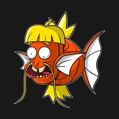"Rickarp by mikegoesgeek<---- more like ""I'm Magikarp Rick""! Rick And Morty Pokemon, R Rick And Morty, Rick And Morty Drawing, Rick And Morty Tattoo, Pokemon Crossover, Anime Crossover, Graffiti Characters, Skeleton Art, Adult Cartoons"