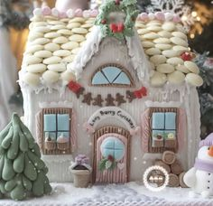 Image result for how to make gingerbread house look like a cupcake