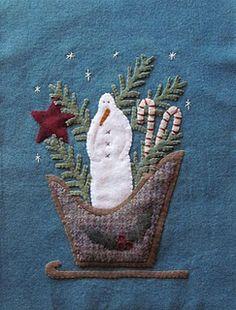 Wool snowman applique...